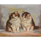 stramin + garnpaket, kittens (100% wolle)