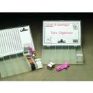 2x aufbewahrungsbox stickgarn 17 fächern (incl. 2x100 windkarten)
