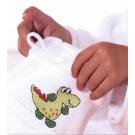frottee waschhandschuh, wit (incl. aida stickkante)