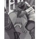 stickpackung jazz muzikant, bass
