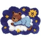 knüpfdecke beer op wolk
