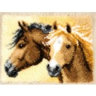 knüpfdecke paardenhoofden
