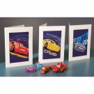 stickpackung glückwunschkarte (3 st.) cars, storm, mc queen en cruz