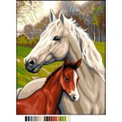 stramin paard met veulen