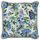 halber kreuzstichkissen paisley bloemen in blauw