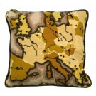 halber kreuzstichkissen landkaart in sepia